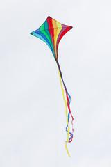 Rainbow kite flying