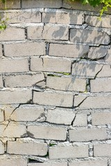 closeup of dangerous wall with cracks