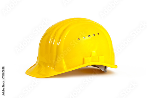 Leinwanddruck Bild Yellow hardhat