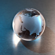 canvas print picture - Globe Russia and Asia continent