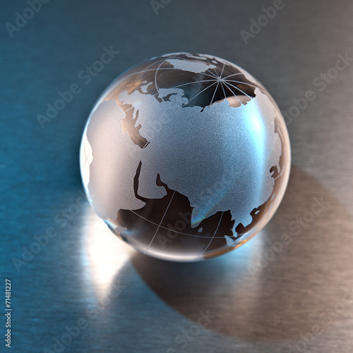 canvas print picture Globe Russia and Asia continent