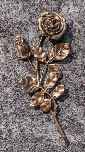 canvas print picture Bronzefarbene Rose