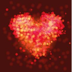 Funkelndes Herz