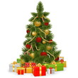 Vector Christmas Tree with Gifts