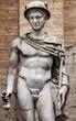 Leinwanddruck Bild - Mercury sculpture