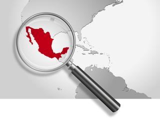 Landkarte *** Südamerika Mexiko