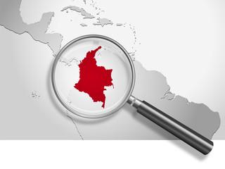 Landkarte *** Südamerika Kolumbien
