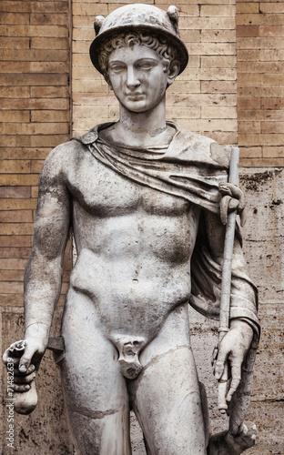 Leinwanddruck Bild Mercury sculpture