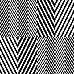 Abstract Black White Herringbone Fabric Style Vector Seamless