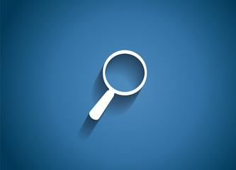 Search  Glossy Icon Vector Illustration