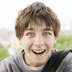 Surprised Boy outdoor