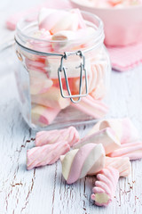 sweet marshmallow in jar