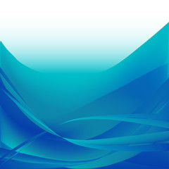 Colorful waves isolated abstract background blue and white