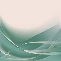 Colorful waves isolated abstract background turquoise pink light