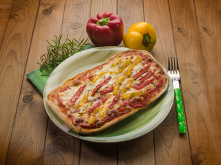 homemade pizza with  grilled pepper