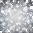 Silver christmas starry background.