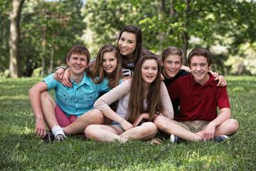 Happy Teen Boys and Girls