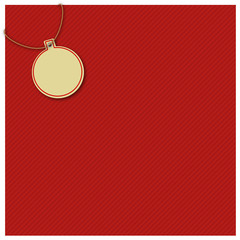 Gift wrap, red, christmas ball