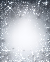 Winter starry christmas background.