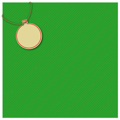 Gift wrap, green, christmas ball