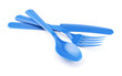 Blue disposable plastic cutlery