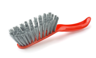 Red plastic cleaning brush