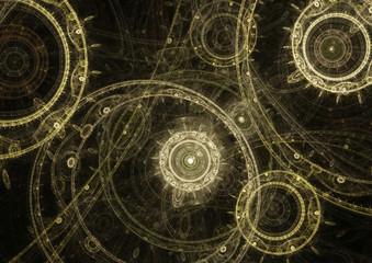 Dark mechanical background