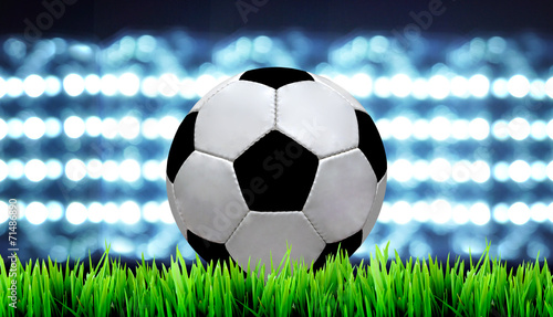 soccer field and the bright lights - 71486890