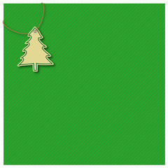 Gift wrap, green, christmas tree