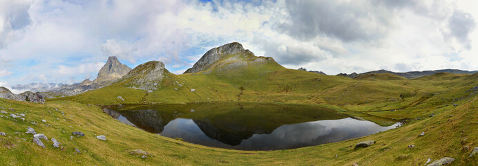 Panorama of the glacial lake Paradis