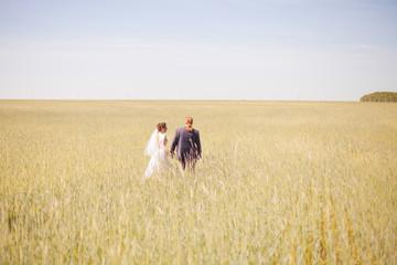 Happy couple on wedding day