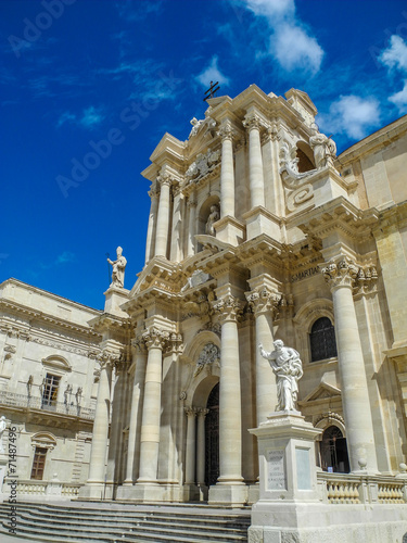 canvas print picture The Cathedral of Syracuse,Sizilien, Italia