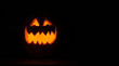 canvas print picture - smiling pumpkin