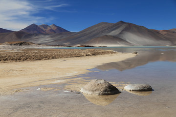 Salt Lake in Atacama desert, Chile