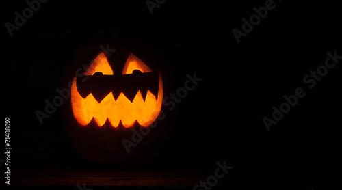 canvas print picture smiling pumpkin