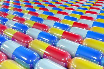 Health Medicine Pills Background or Texture
