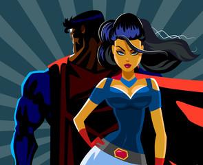 Superheroes a back to a back