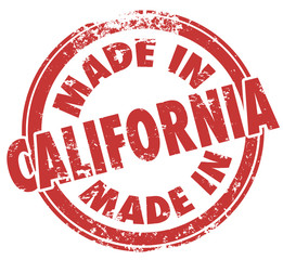 Made in California State Pride Stamp Products Produced in CA