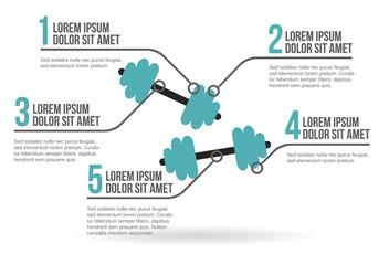 Dumbbell infographic vector illustration