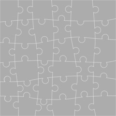 Puzzle - Background, Vector Illustration,