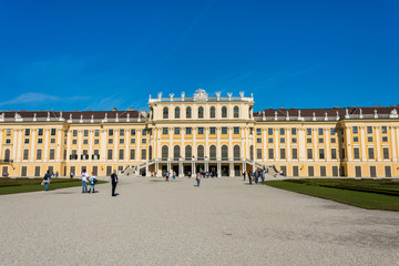 Vienna - OCTOBER 14: Schonbrunn Palace on October 14 in Vienna,