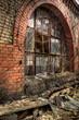 canvas print picture - Fenster Ruine
