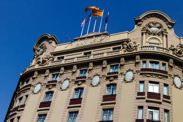 Modernist building outdoors in Barcelona street