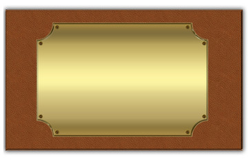 gold background on a leather background