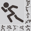 canvas print picture - Set of athletics icons