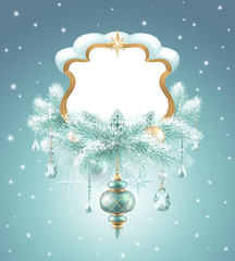 winter holiday background illustration, Christmas banner