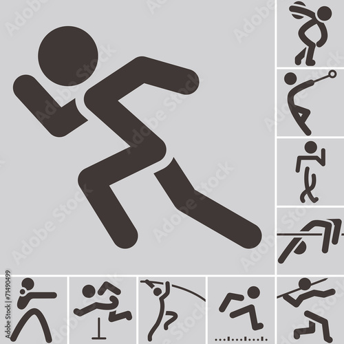canvas print picture Set of athletics icons