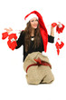 Im Weihnachtskostüm