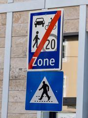 Verkehrszeichen Begegnungszone