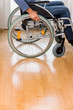 canvas print picture - Mann im Rollstuhl